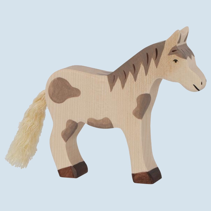 Holztiger - wooden animal - horse, brown