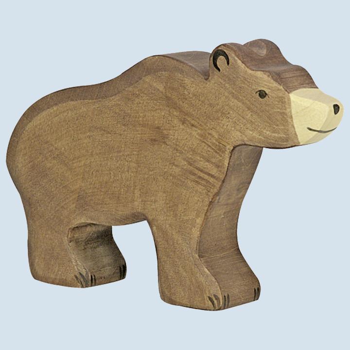 Holztiger - wooden animal - brown bear