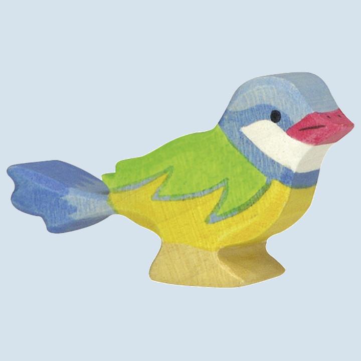 Holztiger - Holztier Vogel - Blaumeise
