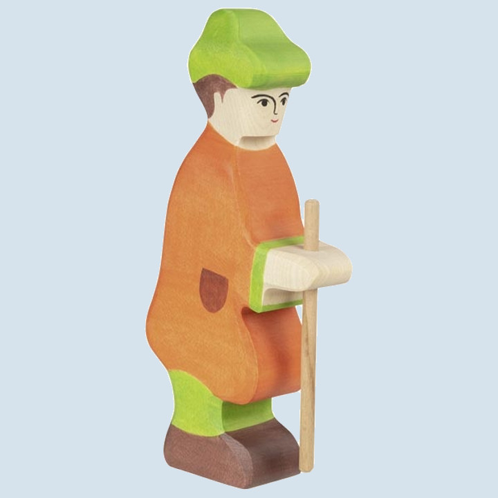 Holztiger - wooden figure - shepherd with staff