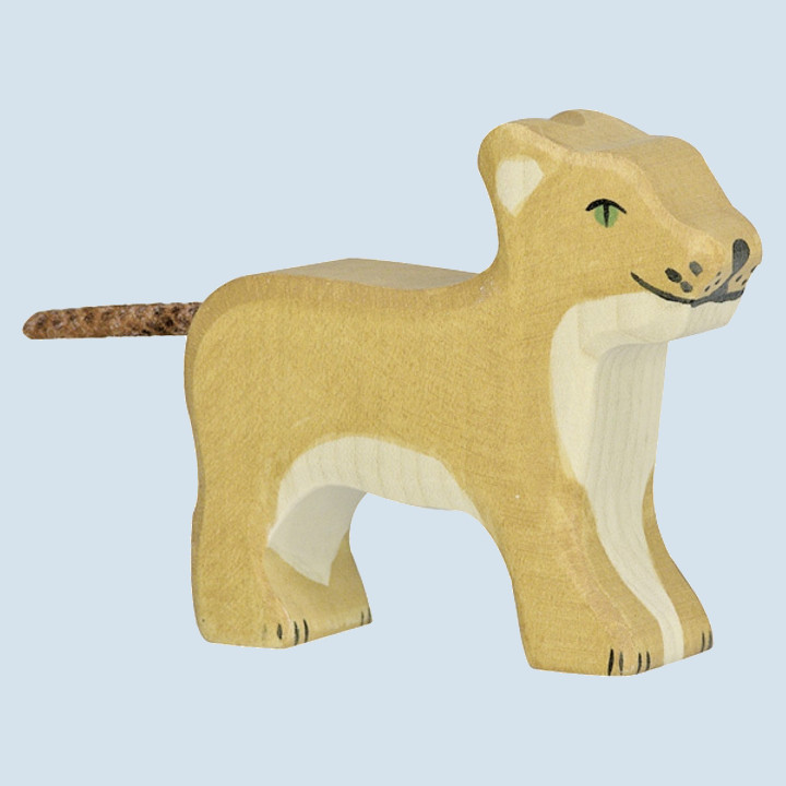 Holztiger - wooden animal - little lion