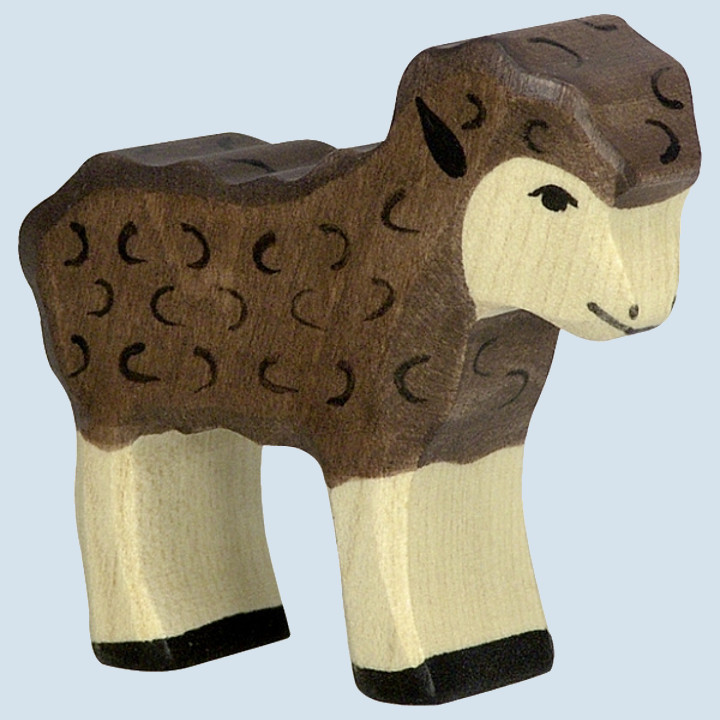 Holztiger - wooden animal - lamb, brown