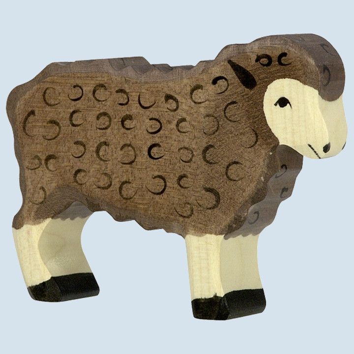 Holztiger - wooden animal - sheep, brown