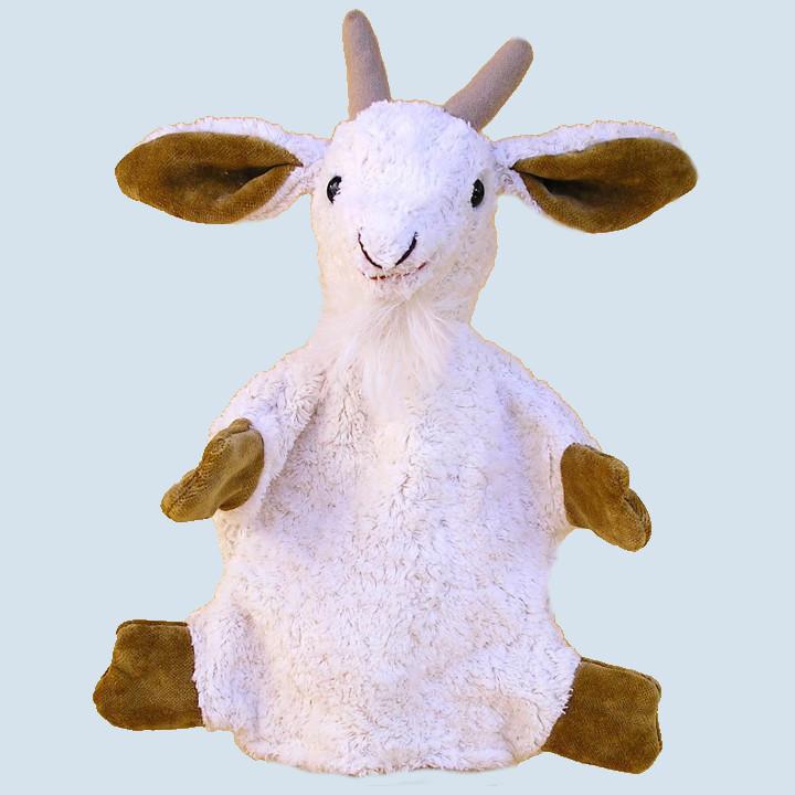 Kallisto Handpuppe - Ziege - weiß, Bio Baumwolle