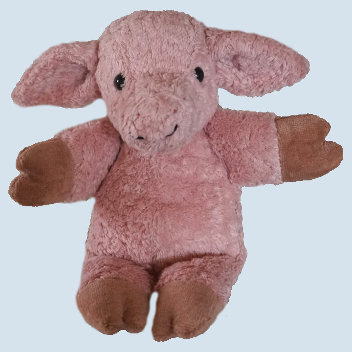 Kallisto Stofftier, Kuscheltier - Schwein Knuffel - Bio Baumwolle, öko