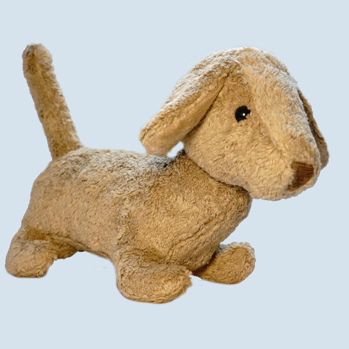 Kallisto Stofftier, Kuscheltier - Hund Dackel Waldi - Bio Baumwolle, öko