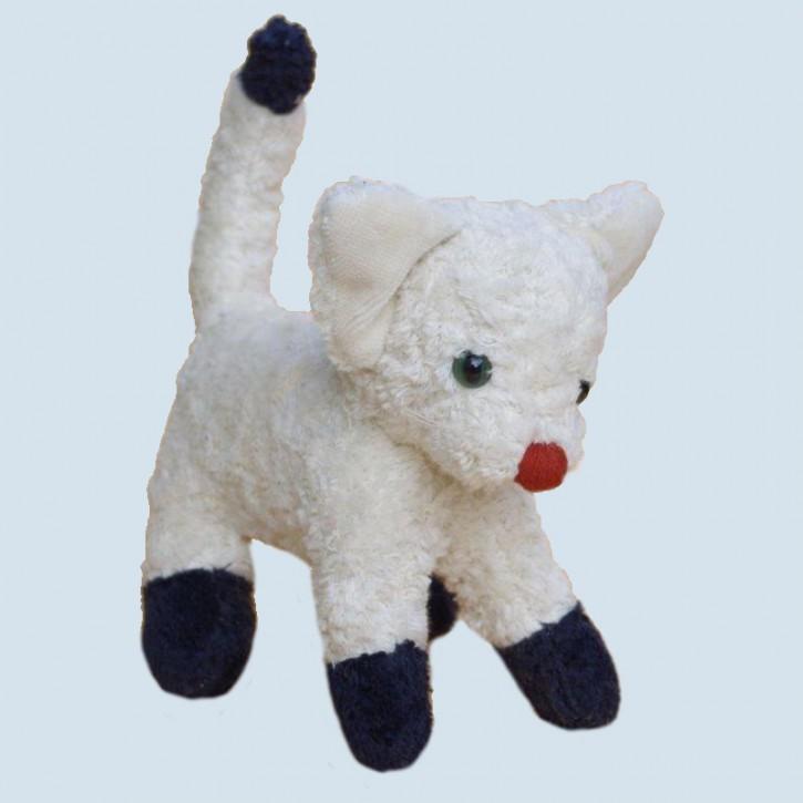 Kallisto Stofftier - Katze, stehend, weiß, Bio