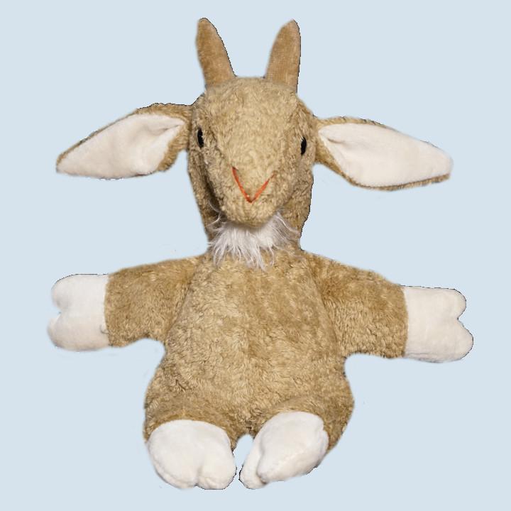 Kallisto Stofftier, Kuscheltier - Ziege - beige, Bio Baumwolle
