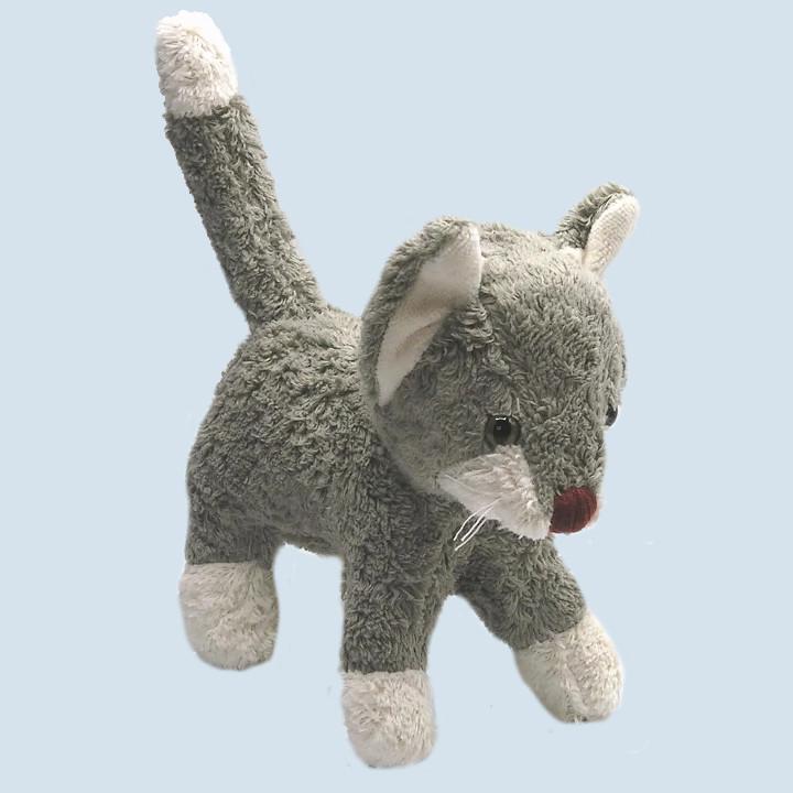 Kallisto Stofftier - Katze, stehend, grau, Bio