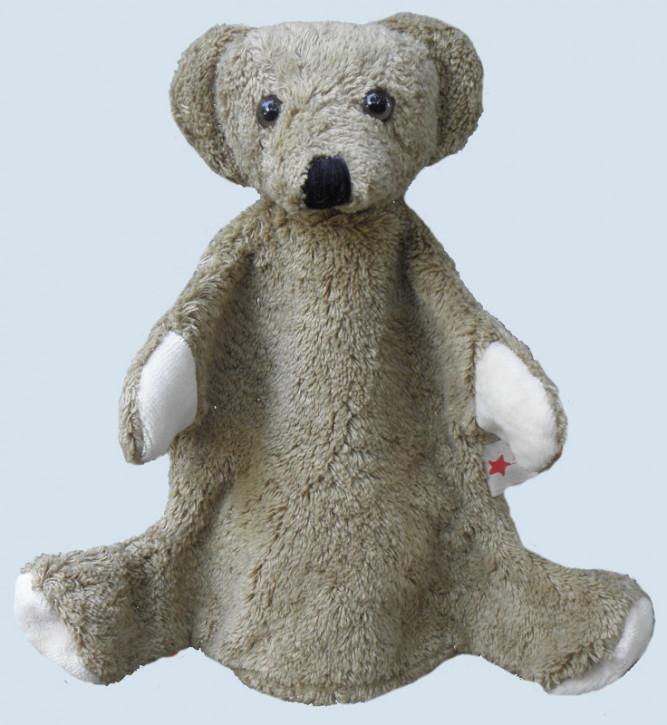 Kallisto hand puppet - bear - light brown, organic cotton, eco
