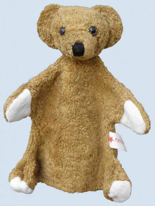 Kallisto Handpuppe - Bär, Teddy - braun, Bio Baumwolle, öko