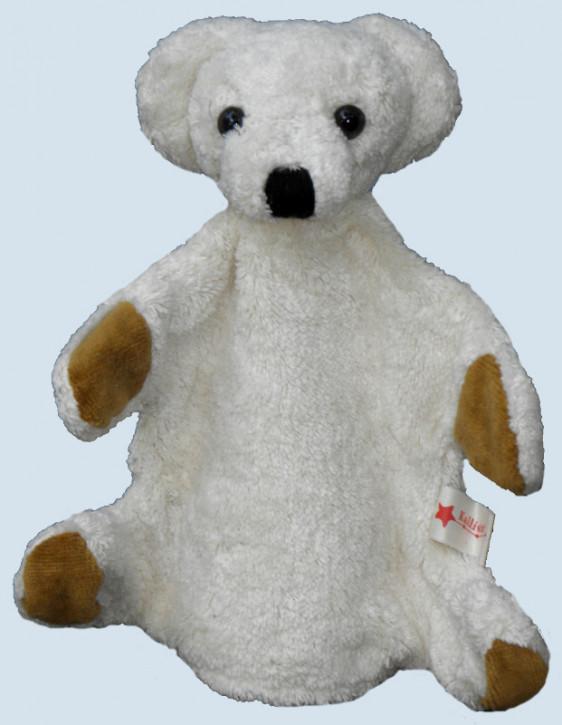 Kallisto Handpuppe - Bär, Teddy - weiß, Bio Baumwolle