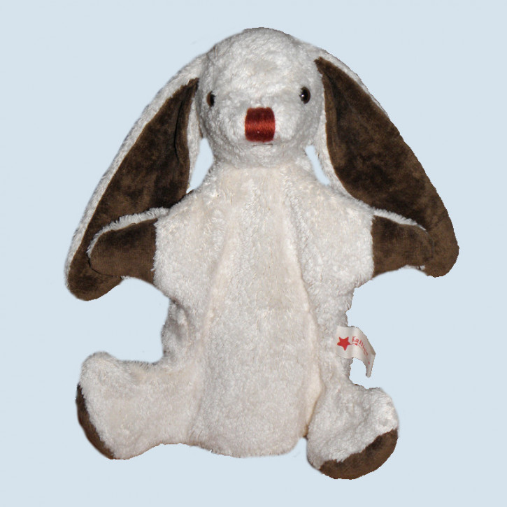 Kallisto hand puppet - rabbit - white, organic cotton