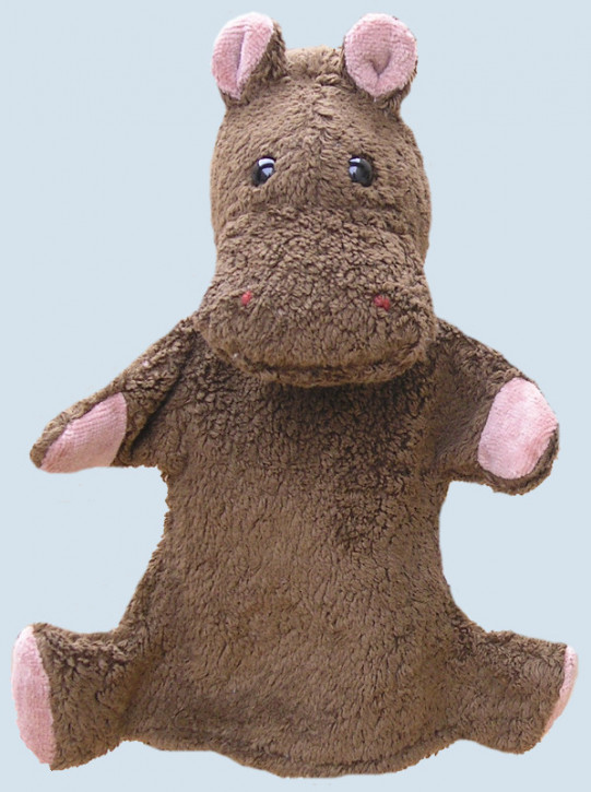 Kallisto hand puppet - Hippo - brown, organic cotton, eco