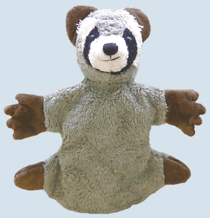 Kallisto hand puppet - Racoon - organic cotton, eco