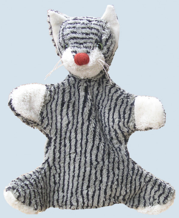 Kallisto Handpuppe - Katze - grau gestreift, Baumwolle