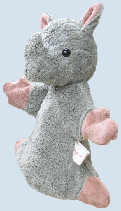 Kallisto hand puppet - Rhino - organic cotton, gray