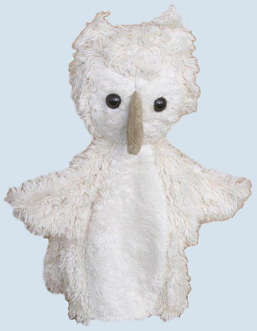 Kallisto Handpuppe - Eule - weiß, Bio Baumwolle, öko