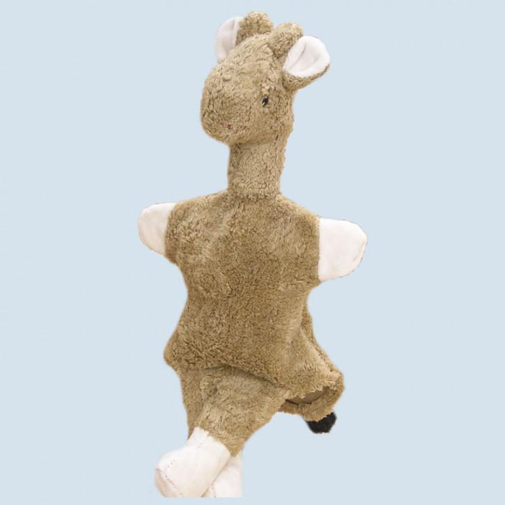 Kallisto Stofftier, Kuscheltier - Handpuppe Giraffe - Bio Baumwolle, öko