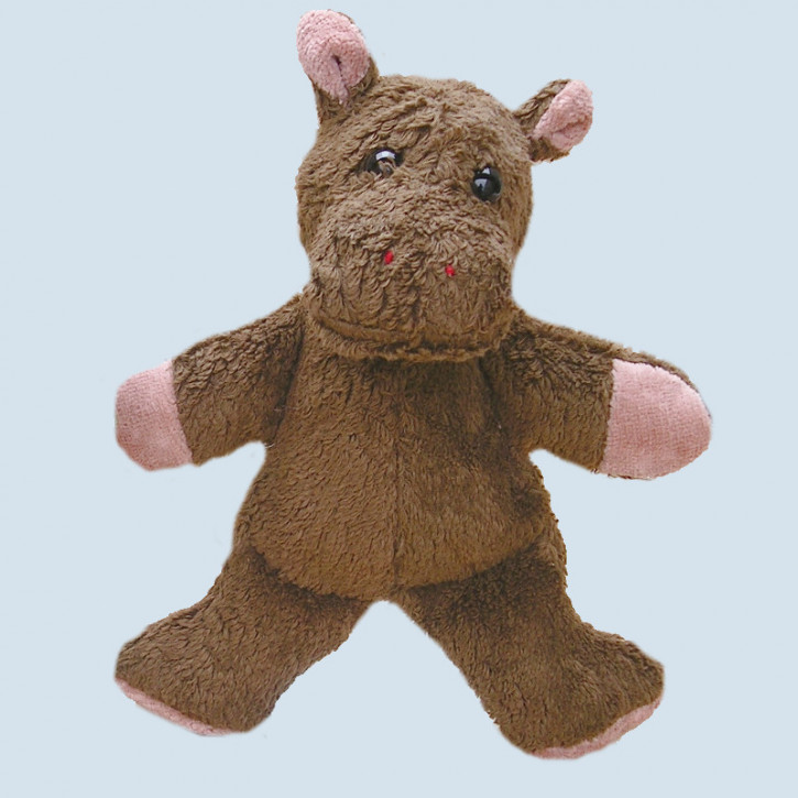 Kallisto cuddly toy - Hippo Knuffel - brown, organic cotton, eco