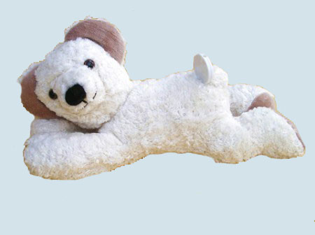 Kallisto music box - lying Bear, Teddy - white, organic cotton, eco