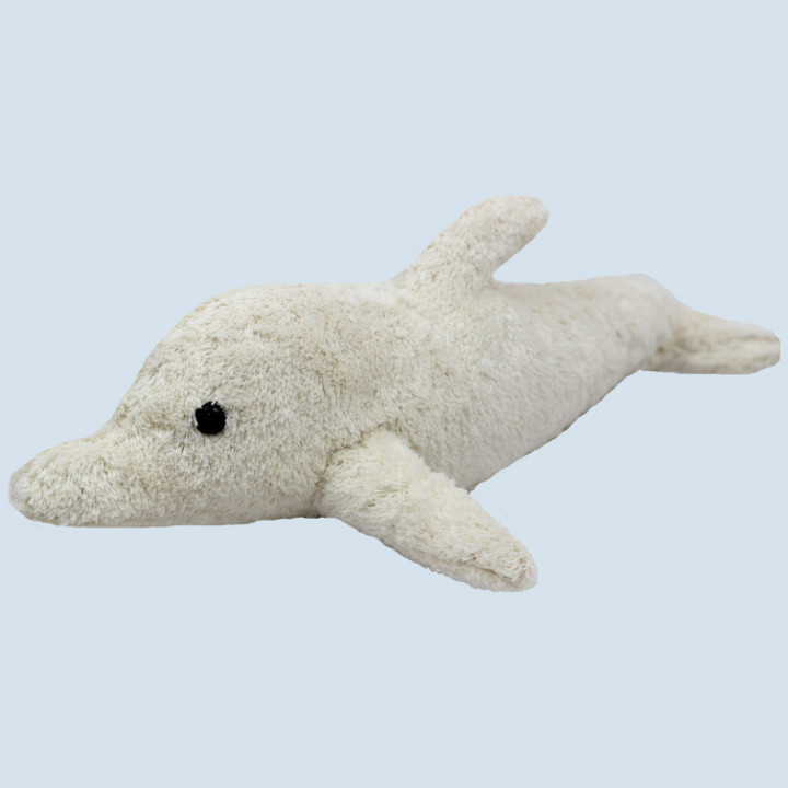Kallisto cuddly animal - dolphin - white, organic, eco
