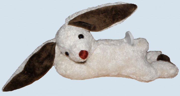 Kallisto music box - lying Rabbit, Bunny - white, organic cotton, eco