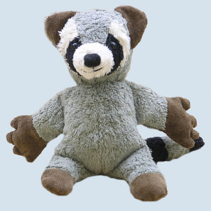 Kallisto cuddly toy with music box ♫ racoon - organic cotton, eco