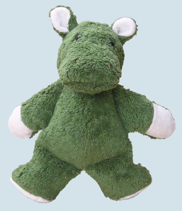 Kallisto Stofftier - Nilpferd - grün, Bio Baumwolle, vegan