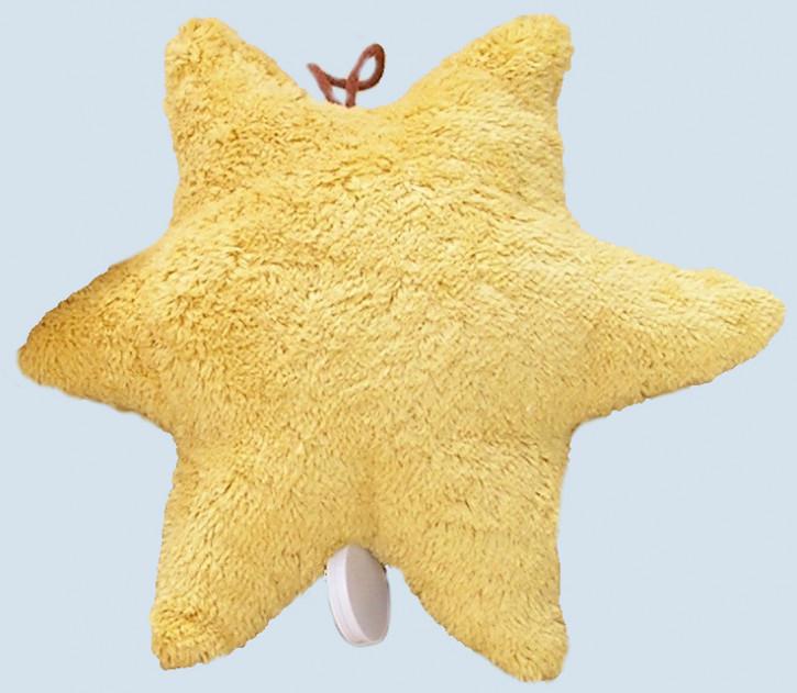 Kallisto Spieluhr - Stern - gelb, Bio Baumwolle