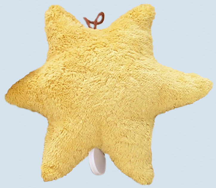 Kallisto music box - Star - yellow, organic cotton, eco