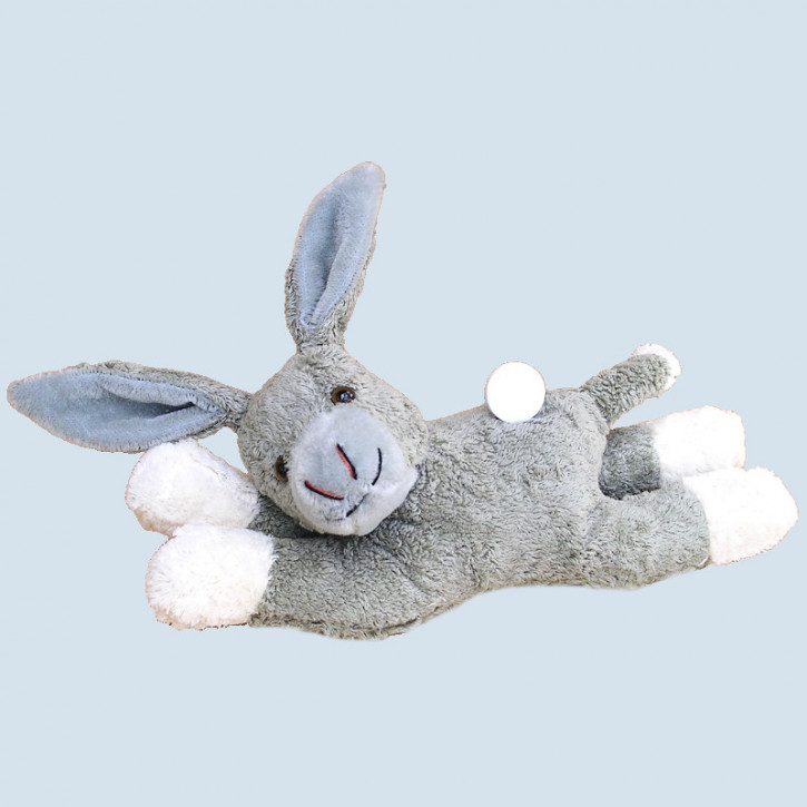Kallisto cuddly animal with music box Donkey - organic cotton