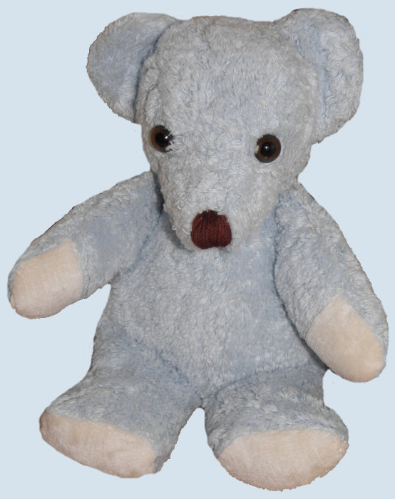 Kallisto stuffed animal - bear, teddy - blue, organic cotton