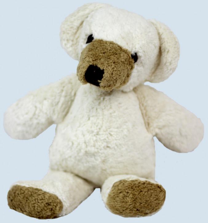 Kallisto Kuscheltier Schnuffel - Bär, Teddy - weiß, Bio Baumwolle