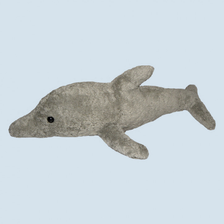 Kallisto cuddly toy - Dolphin - grey, organic cotton, eco