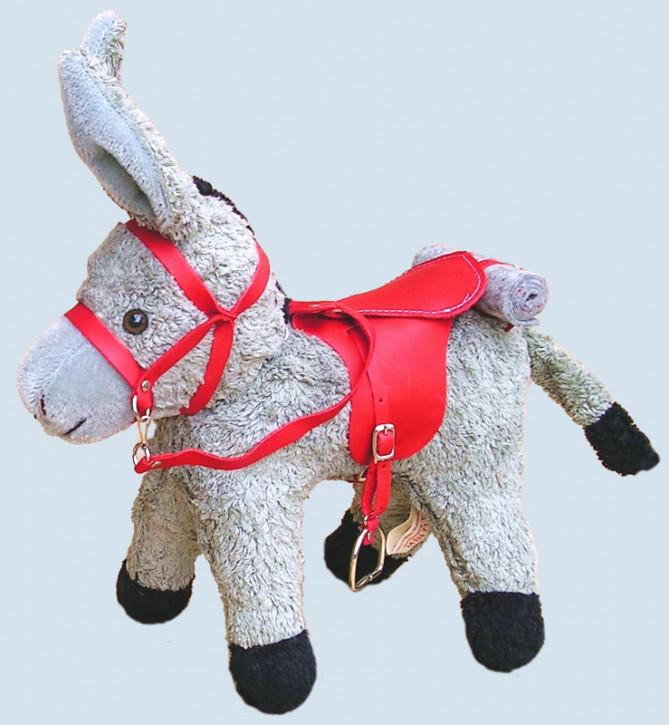 Kallisto - Saddle and Bridle for Donkey Gundolf - red