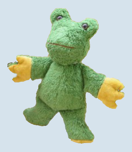 Kallisto stuffed animal - frog - organic cotton, eco