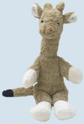 Kallisto cuddly animal, music box - Giraffe - organic cotton, eco