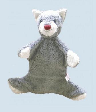 Kallisto Handpuppe - Katze - grau, Baumwolle