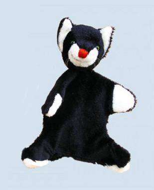 Kallisto Handpuppe - Katze - schwarz,  Mohair