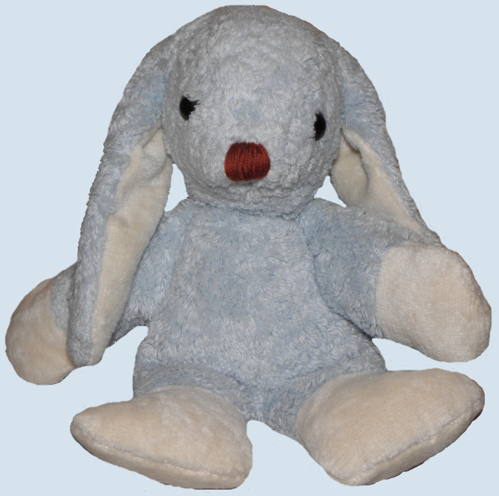 Kallisto stuffed animal - rabbit / bunny - blue, organic cotton