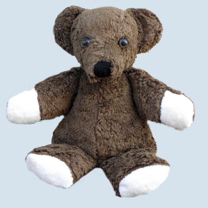 Kallisto stuffed animal - bear, teddy - dark brown, organic cotton