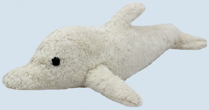Kallisto cuddly toy - Dolphin - white, organic cotton, eco