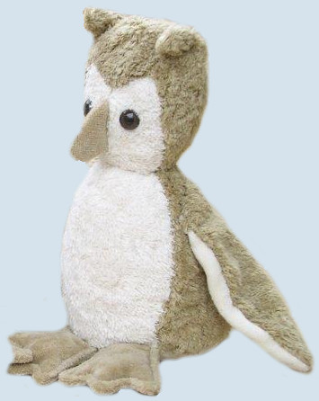 Kallisto cuddly toy - Owl - beige, organic cotton, eco