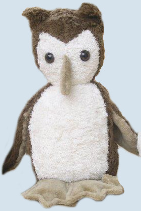 Kallisto cuddly toy - Owl - brown, organic cotton, eco