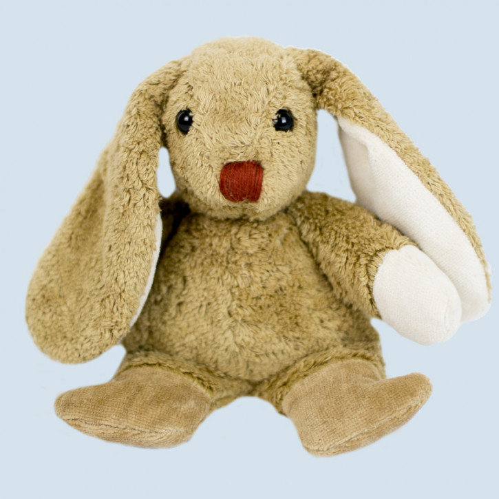 Kallisto stuffed animal - rabbit - light brown, organic cotton