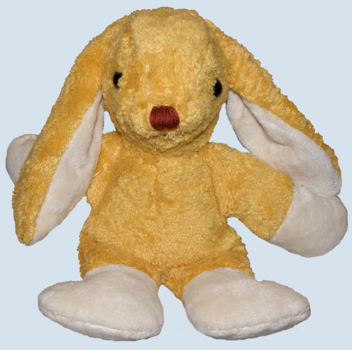 Kallisto stuffed animal - rabbit / bunny - gold, organic cotton