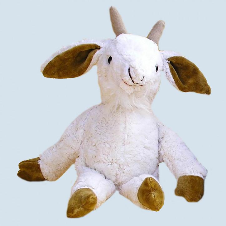 Kallisto Stofftier - Schlenkertier Ziege - weiß, Bio Baumwolle, öko