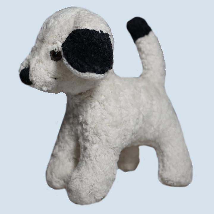 Kallisto Stofftier, Kuscheltier - Hund, Welpe - weiß, Bio Baumwolle, öko