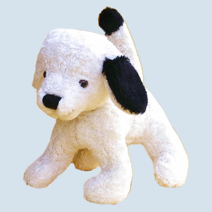Kallisto Stofftier, Kuscheltier - Hund - weiß, Bio Baumwolle, öko